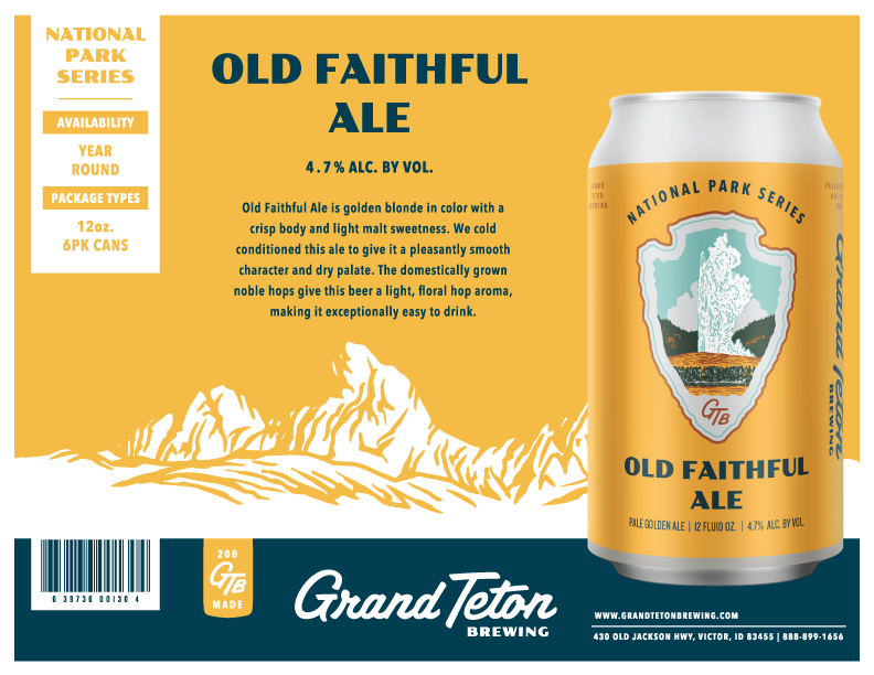 Old Faithful Ale Sell Sheet